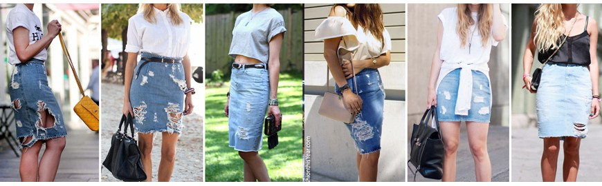 The immortal denim skirt