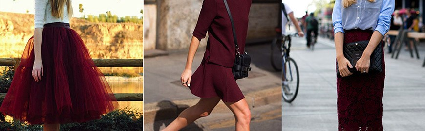 STAND OUT THIS SEASON IN BURGUNDY